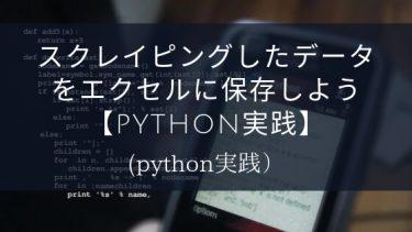 スクレイピングしたデータをエクセルに保存しよう【python実践】